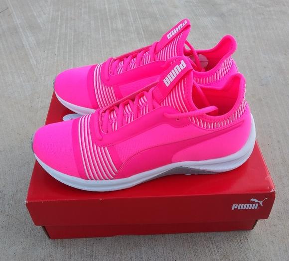 Puma Shoes | Pink Neon Sneakers | Poshmark